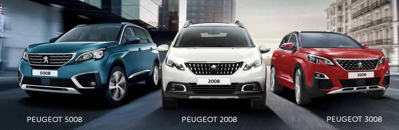 Zoom sur les SUV signés Peugeot